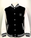 SLMT! College Jacket Black/White - voorzijde